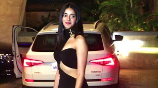 Ananya Pandey looking stunning in hot dress at Punit Malhotra's Valentine Day Party 2019.