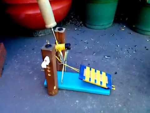 Homemade bass drum pedal!