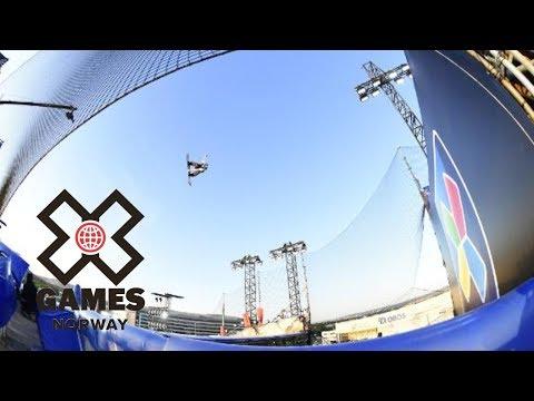 Marcus Kleveland wins Men's Snowboard Big Air silver   X Games Norway 2018