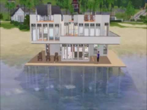 A Stilted Home built in Sunset Valley in Sims 3 game