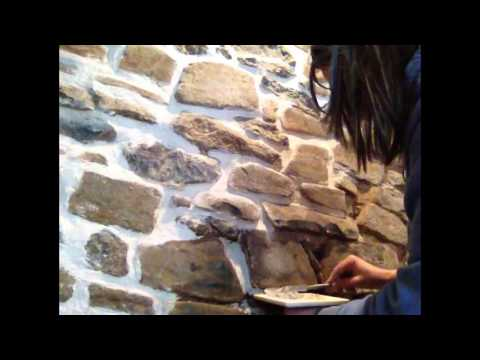 Pointing A Stone Wall In Lime Mortar