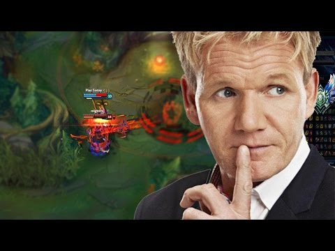 Being coached at League of legends by the master chef Gordon Ramsay