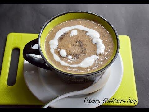 Quick and Easy Creamy Mushroom Soup | Mushroom Creamy Soup Recipe - Bengali #330