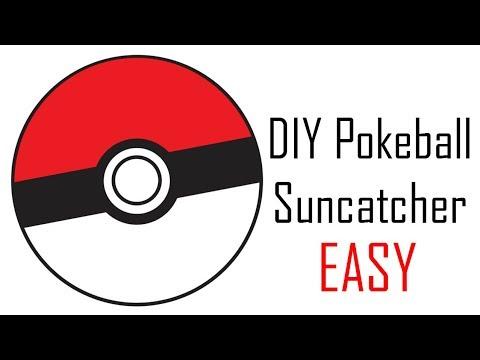 DIY Pokeball Suncatcher | DimitraDIY ♡