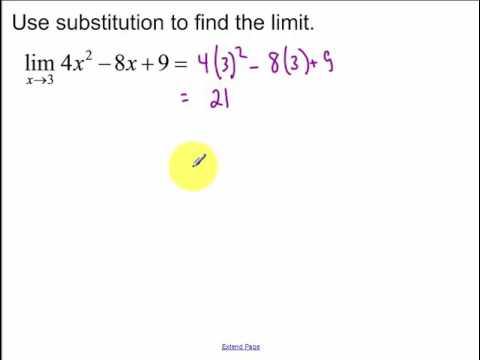 2.1 Limits by Algebra