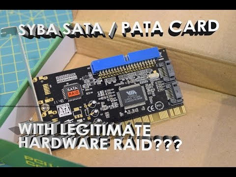 Syba SATA + PATA PCI Raid Controller Card Unboxing, Overview, Test (SD-VIA-1A2S)