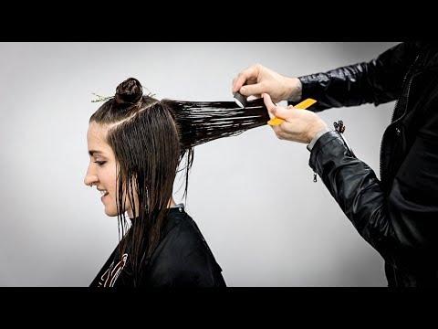 Layered Haircut Tutorial for REALLY THICK Hair | MATT BECK VLOG S2 016