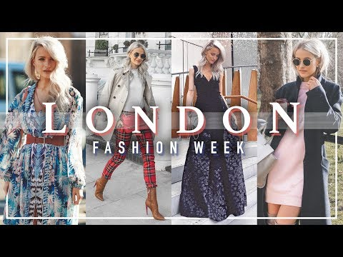 WHAT I WORE AT LONDON FASHION WEEK & WATCH THE SHOWS! VLOG 82
