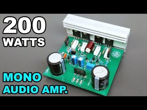 200 Watts Mono Audio Amplifier Board DIY 2SC5200+2SA1943 Transistor(Hindi Electronics)ELECTRO INDIA