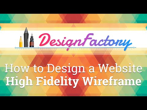 How to Design a Website - High Fidelity Wireframe