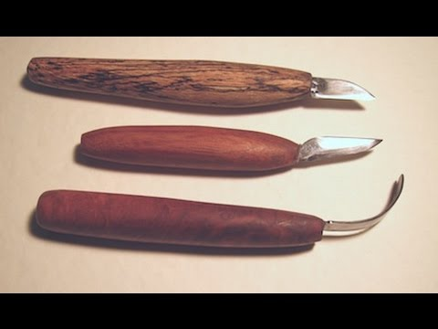 Making A Real Woodcarving Knife from Real Steel +Spoon Knife