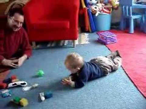 Baby Sean Commando Crawling