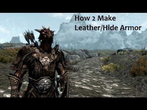 How To: Make Leather Armor (Skyrim)