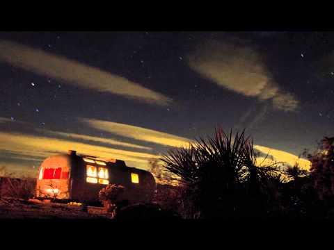 Time Lapse video of my Airstream Trailer near Joshua Tree National Park