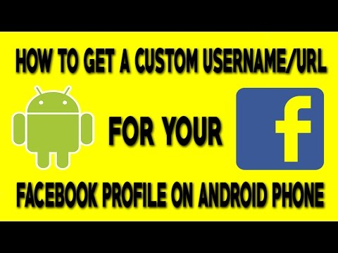 How To Get a Custom Username/Url For Your Facebook Profile On Android Phone
