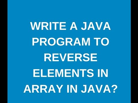 How to reverse elements in an array in java?