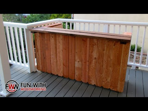 Project - Build a rustic outdoor bar out of 2x4's and cedar fence pickets