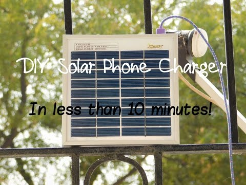 DIY 10 Minute Solar Phone Charger