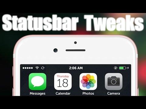 12 CYDIA Tweaks for your Statusbar iOS 9 - 9.3.5