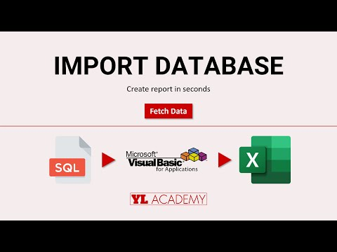 Create Report in Seconds by Fetching Data from SQL Server using Excel VBA