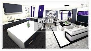 Bloxburg 10k All White Marble Kitchen - roblox kitchen ideas bloxburg