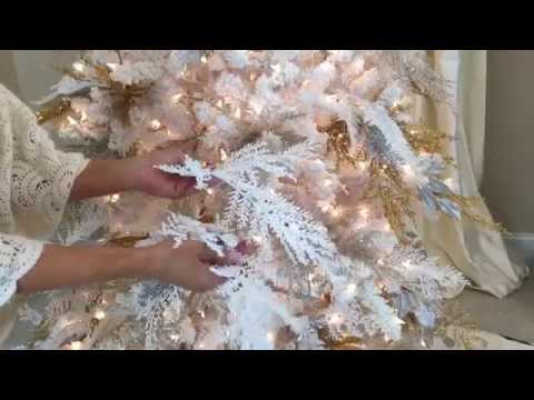 The Secret White Branches in a White Flocked Christmas Tree (Part 4 of 8)