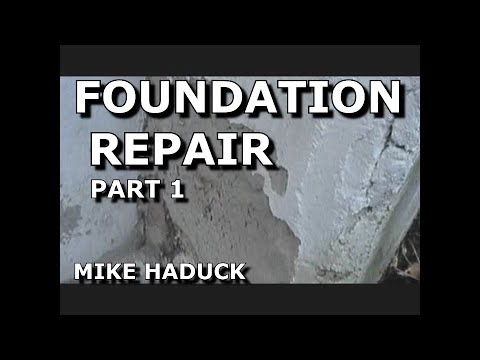 How I patch  or fix-up a foundation (Part 1 of 6) Mike Haduck