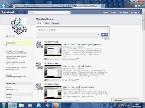 Windows 7 - Internet explorer 9 - Facebook pin