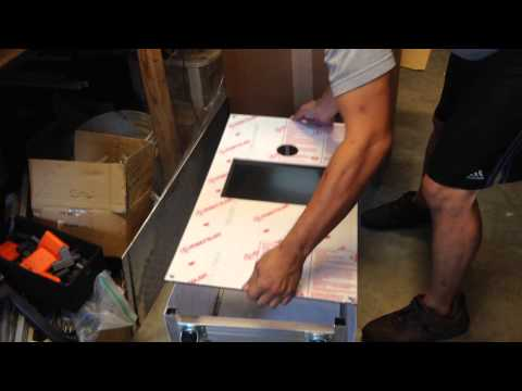 LED kioks top box assembly how to photo booth