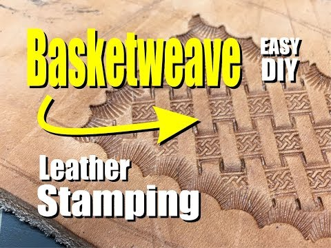 How to stamp a Basketweave design for Leather Crafts