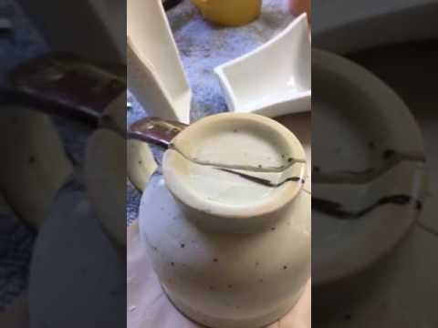 How to cut a cup in half with Dremel