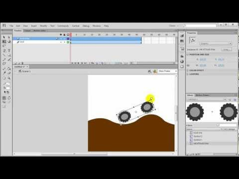 Flash Motion Tween: Rotating Wheels (part 2 of 3)