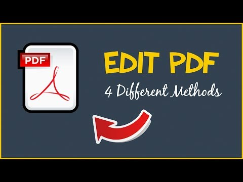 How To Edit A PDF - 4 Different Methods