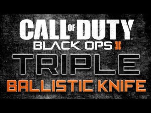 Black Ops 2 - Triple Ballistic Knife Across Map! (Best BO2 Clip Ever?)