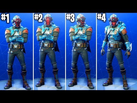 ALL 4 BLOCKBUSTER SKIN CUSTOMISATION OPTIONS! THE VISITOR SKIN FULLY CUSTOMISED! (ALL UNLOCKED)