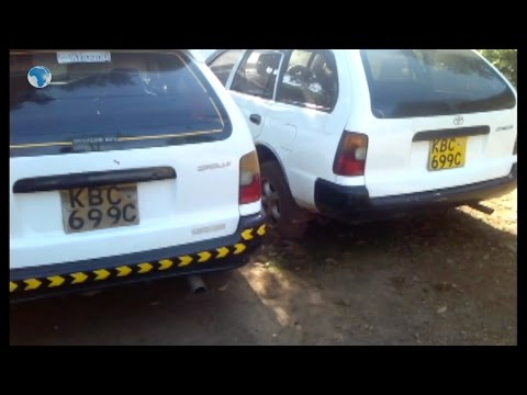 Police in Nyeri nab two vehicles bearing identical registration numbers