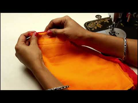 Blouse Back Neck Design Cutting & Stitching (Step by Step) Simple Method