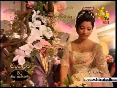 Hiru TV - Mangalam Special Wedding of Ruwangi & Chamath - Lighting Oil Lamp & Cutting the Cake