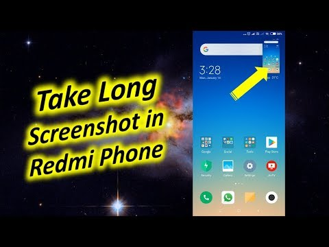 How to Take Long Screenshot in Redmi Phone