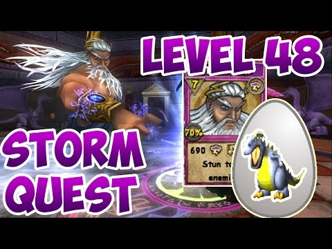 Wizard101: - Level 48 Storm Spell Quest -