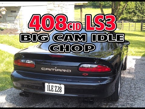 Big cam 95 715rwhp 1LE Camaro 408 LS3 heads and cam. Idle Video Street car toy
