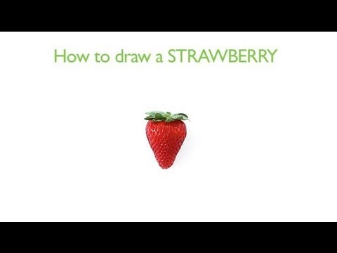 How to Draw a Strawberry : How to Draw Fruits