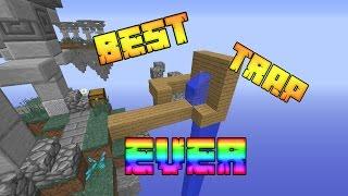 """""""BEST TRAP EVER!""""  Minecraft SKYWARS #29 w/LandonMC"""