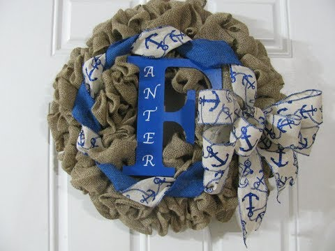 How To Make Carmen's Pull Thru Burlap Wreath To Honor Her Husband on Memorial Day 2018