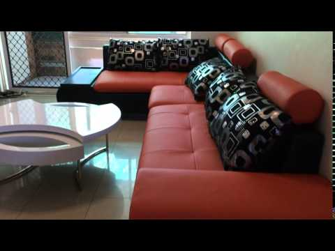 Modern  orange black or FULL black corner sofa leather look lounges