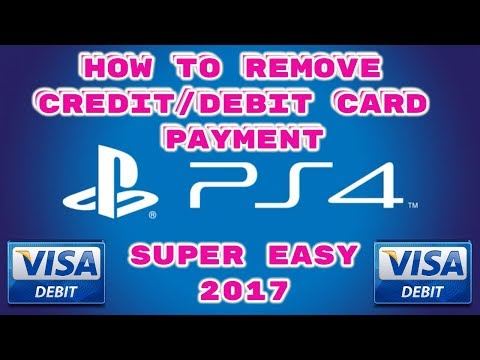 How to delete your debit card details on PS4 2017