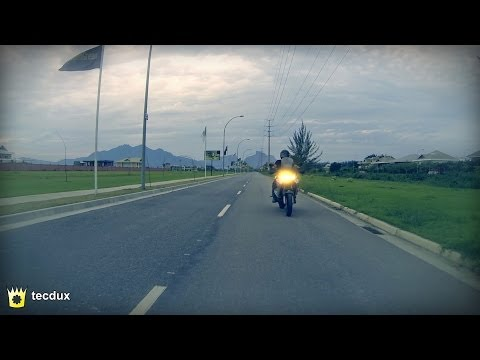 Filming a Honda Motorcycle with an Hexacopter