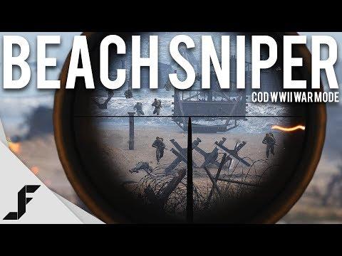 BEACH SNIPER - Call of Duty WW2 War Mode
