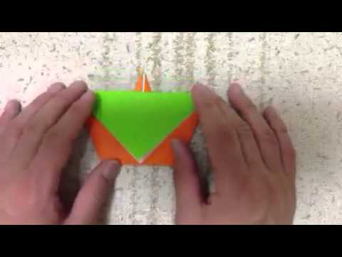 How to make a origami Carrots