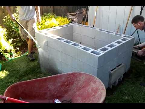 DIY backyard bbq pit. Stage 3
